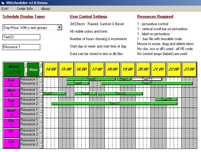 Visual Basic Scheduler Picture